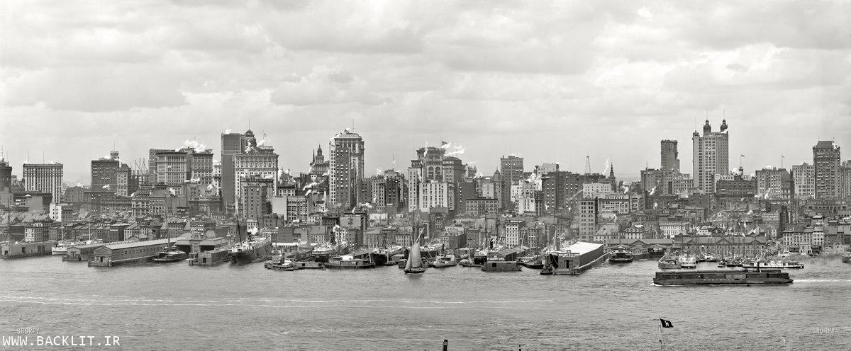 عکس مناظر شهری سیاه و سفید