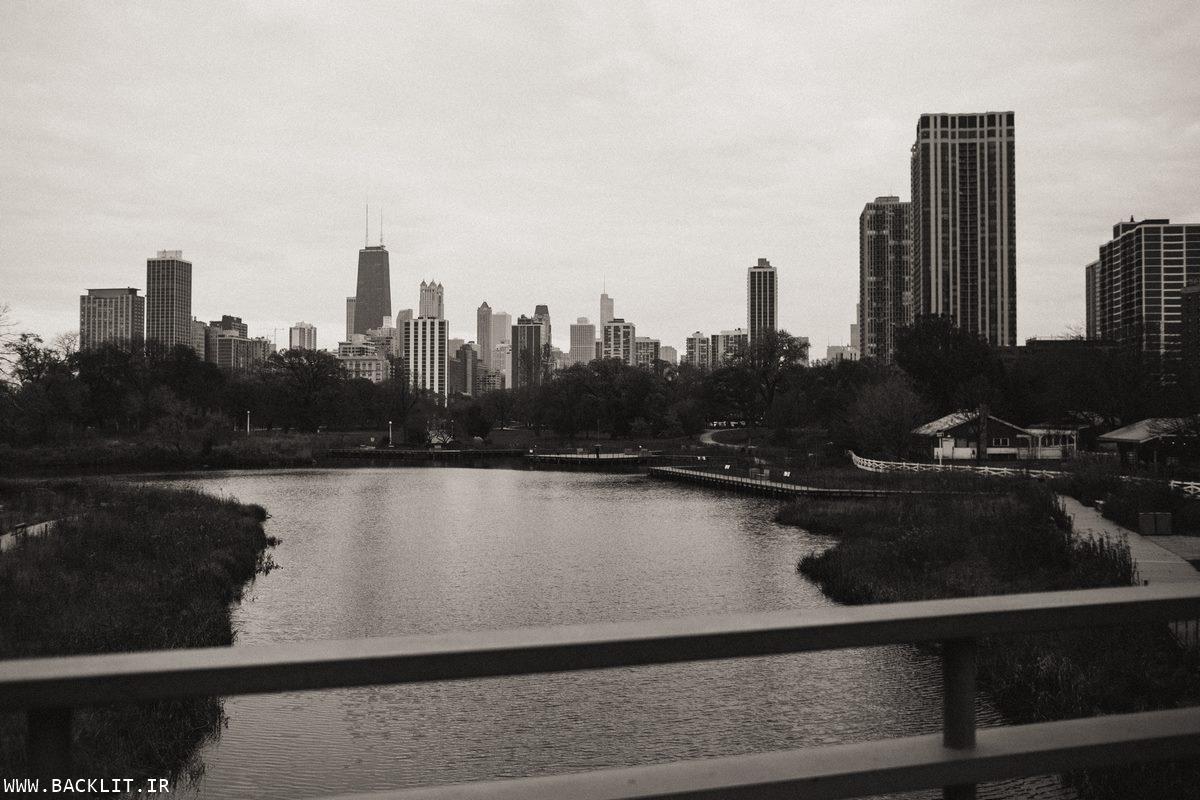 تصاویر مناظر شهری سیاه و سفید