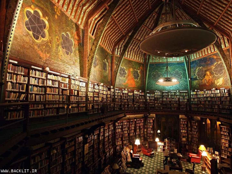 قاب عکس کتابخانه
