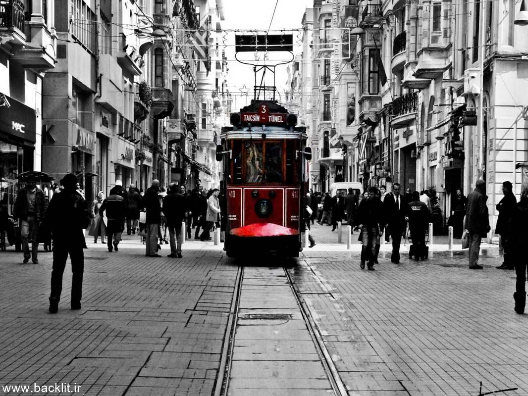 تصویر مناظر شهری سیاه و سفید