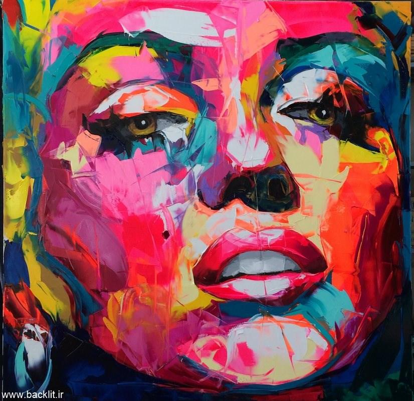 تابلو نقاشی چهره