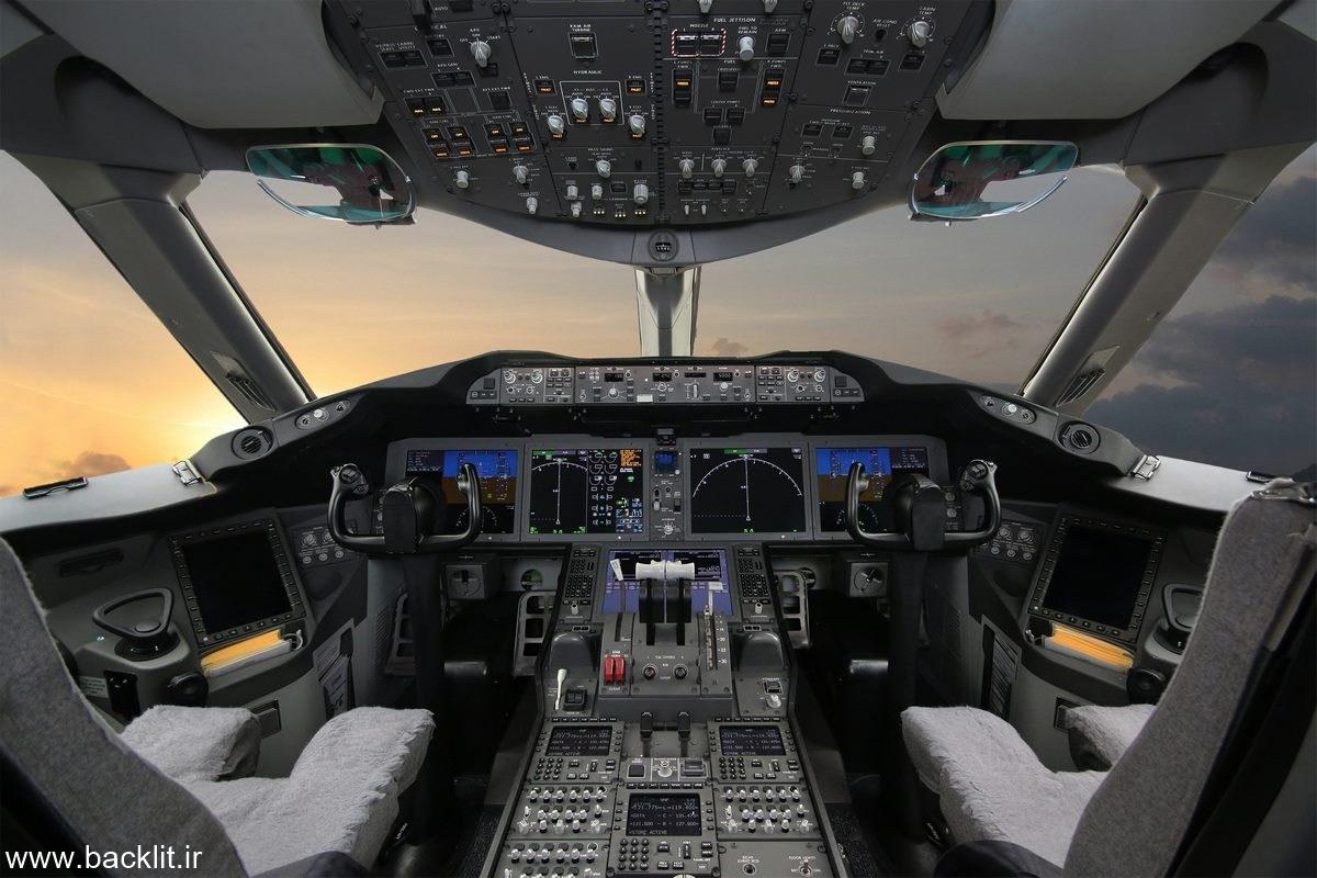 عکس کابین هواپیما
