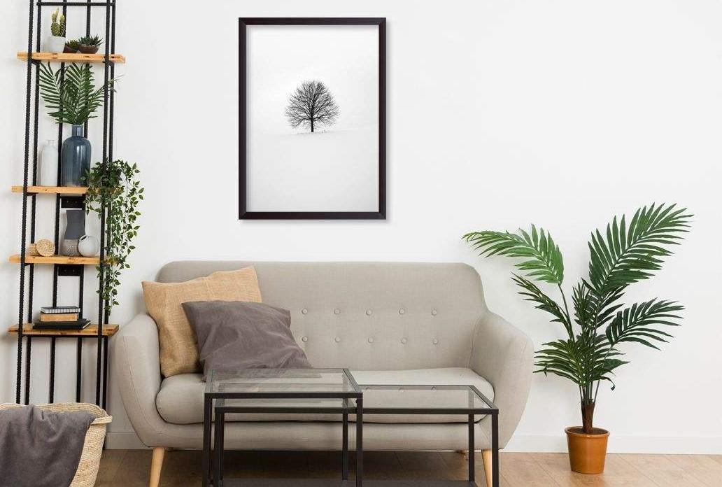 تابلو طرح تک درخت