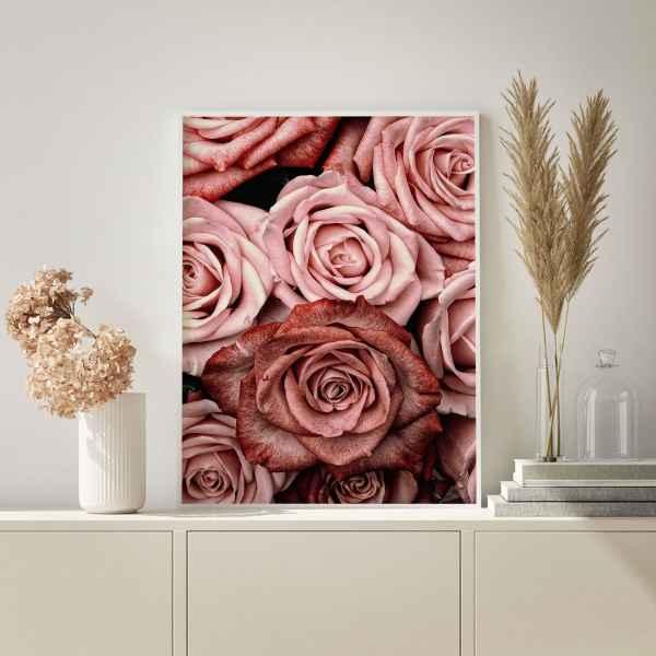 تابلو طرح گل رز