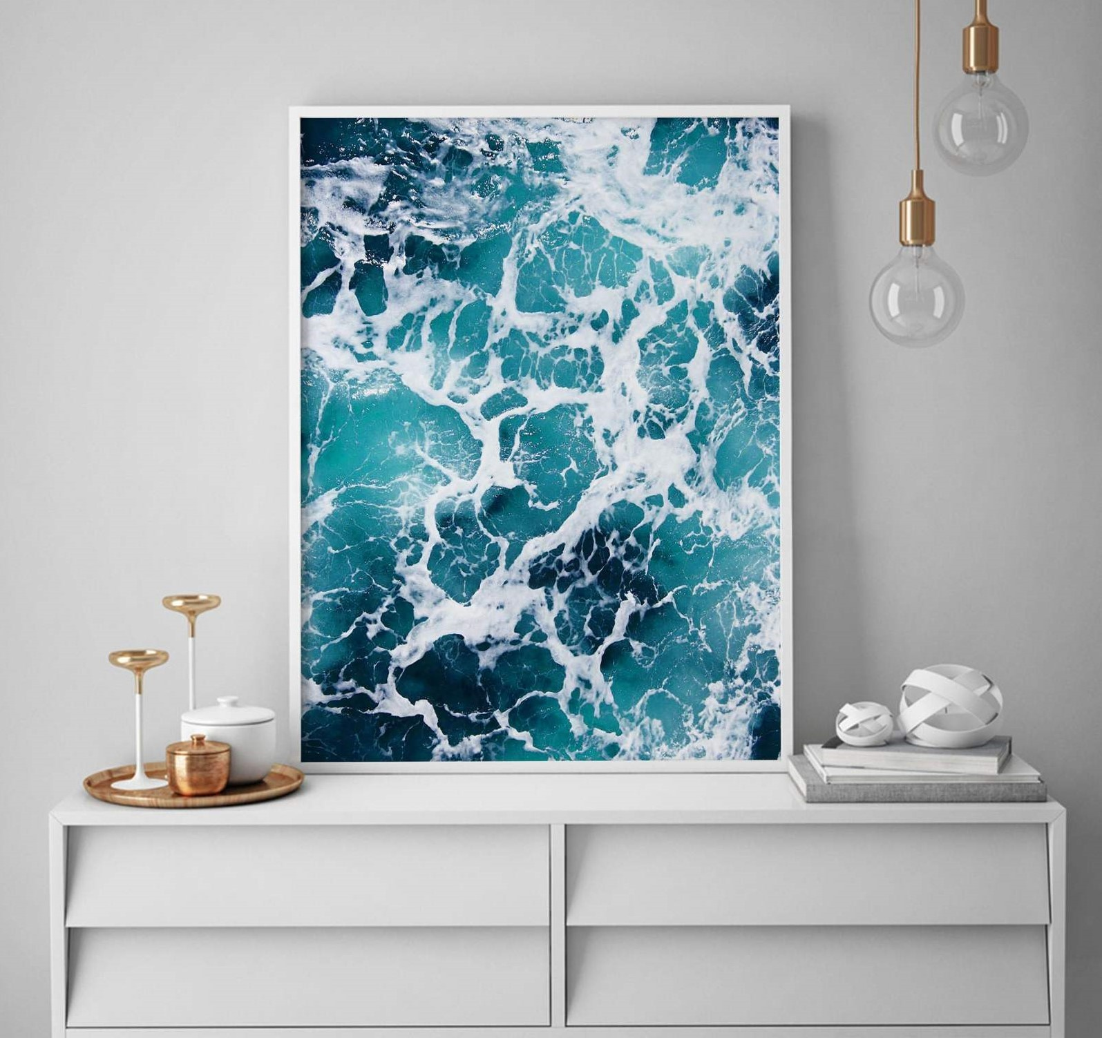 تابلو طرح موج دریا 1